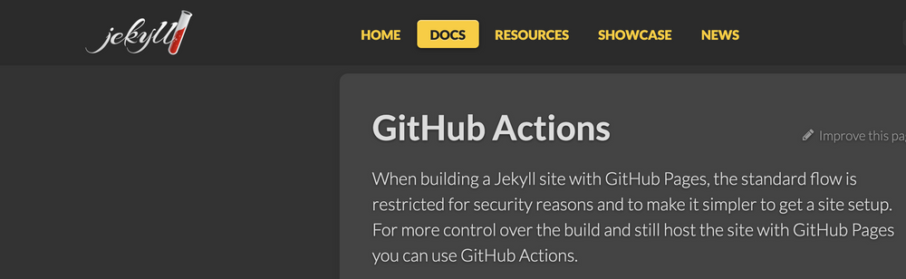 Cover image for Deploying Jekyll with GitHub Actions, not Pages