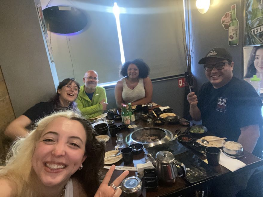 Photo of The Relicans at dinner